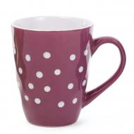 Чашка керамическая Flora в горошек 0,42 л (31494)