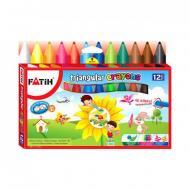 Восковые карандаши треугольные Fatih 12 цветов (MEP-50290)