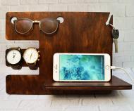 Органайзер дерев'яний БРТ для телефону та сучасних дрібниць