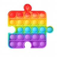 Игрушка антистресс Pop It Радужный пазл Разноцветный (120.511)