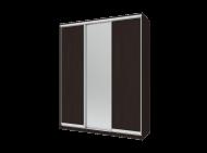 Шкаф купе Сити Лайт Doros 2 ДСП/1 Зеркало 180х60х225 см Венге (240130)