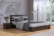 Кровать СЕЛЕНА деревянное с подъемным механизмом 200х160 см Венге