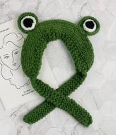 Повязка теплая вязаная Лягушка Жабка лягушонок жаба унисекс