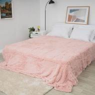 Плед Koloco Травка 210х230 см Розовый