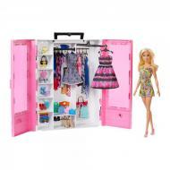 Лялька Барбі ігровий набір barbie та модний шкаф з одягом та аксесуарами Mattel