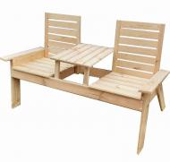 Садова лавка Smell of Wood Twins 160x95x55 см Коричневий (0000011)