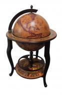 Глобус бар напольный Гранд Презент 45046N-M Континенты 45 см Кофейный (16137)