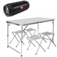 Туристичний стіл Easy Campi зі стільцями + колонка