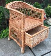 Крісло дерев'яне Woody з шухлядою садове Світле дерево