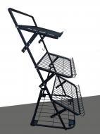 Овочевий стелаж на колесах H165/L80/D100 cm Тип-7 Графіт