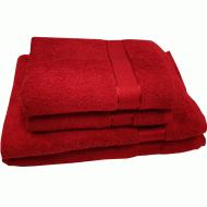 Полотенце махровое бордовое 50*90 см ( бордюр сатин ) ТМ Аиша