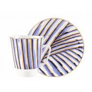Чашка кофейная с блюдцем ИФЗ Pure 165 мл (27367)