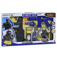 Набір поліцейського Ocoqo з жилетом наручниками та автоматом (57372)