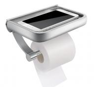Тримач туалетного паперу з полицею Primo Homemaxs Silver