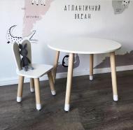 Дитячий круглий стіл і стільчик Зайчик (1080)