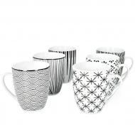 Набор чашек керамических Flora Seoul микс 0,3 л 6 шт. (45234)