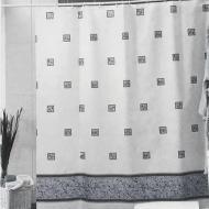 Шторка для ванни і душу текстильна 005 Зумрут 180x200 см Сірий