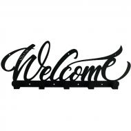 Вешалка настенная Glozis Welcome 50х18 см Black