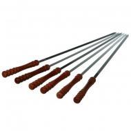 Набор шампуров с деревянной ручкой Гроно-Трейд 60 см 6 шт. (1845)