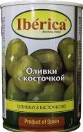 Оливки зелені з кісточкою Iberica 420 г