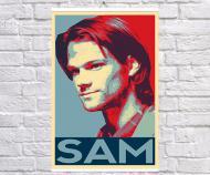 Постер плакат BEGEMOT Поп-Арт Сэм Винчестер Сверхъестественное 61x90 см (1121266-1)