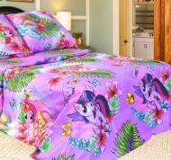 Постель в детскую кроватку Единорог