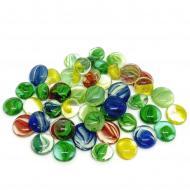 Камни декоративные стеклянные Charm Stones капли прозрачные внутри с рисунком 005