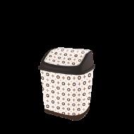 Ведро для мусора с поворотной крышкой Elif Louis Vuitton 7 л (341)