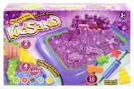 Кінетичний пісок Danko KidSand KS-02-01 з пісочницею 1600 г Фіолетовий