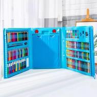 Набор художественный Super Mega Art Set с мольбертом 208 предметов Синий