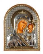 Икона серебряная Казанская Божья Матерь 5,8х7,5 см