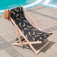 Шезлонг деревянный Бананы 110х60 см