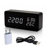 Часы настольные электронные VST-862S с белой подсветкой Черные