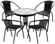 Комплект садовой мебели Jumi Garden Bistro Black-4 (234401)