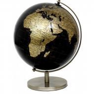 Глобус 20 см Черно-золотой