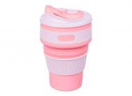 Чашка складная силиконовая Collapsible 5332 350мл, розовая