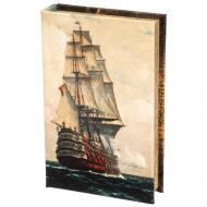 Книга-сейф на ключі Лінійний корабель 26×17×5 см (016UE)