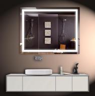 Led зеркало DecorLed с подсветкой в ванную комнату 1000x800 (ZSD-004)