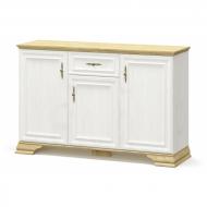Комод Мебель-Сервис Ирис 3Д1Ш из ДСП Белый с натуральным