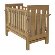 Деревянная детская кроватка с маятниковым механизмом 60*120 Oscar Woodman  Натуральный