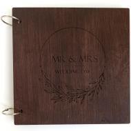 Книга пожеланий FILWOOD деревянная 21х21 см 60 страниц
