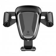 Тримач для телефону Baseus Gravity Car Mount Metal Type в дефлектор Black