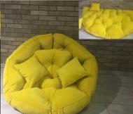 Кресло трансформер матрас с подушкой бескаркасное раскладное лежак Желтый (597804808)