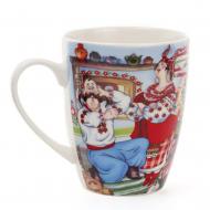 Чашка керамическая Flora Украинский сувенир 0,35 л (31415)