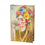 Сейф в виде книги на ключе Девушка в цветах 26×17×5 см (0001-012)