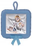Иконка серебрняная детская Ангел Хранитель 10,5х10,5 см