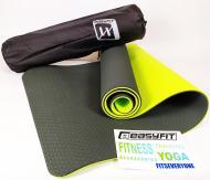 Килимок для йоги EasyFit ECO-Friendly TPE+TC 8 мм Чорний/Зелений (EF-TPE8BkGr)