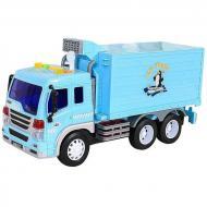 Вантажівка іграшкова Wenyi Рефрижератор інерційний зі звуками Блакитний (58737)