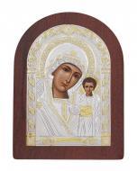 Икона Божией Матери Казанская Agio Silver 20x15 см серебро 925° с позолотой