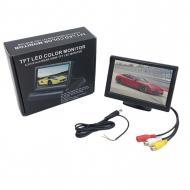 """Монітор для камери заднього виду DS-5 екран 5"""" з 2 відеовиходами Чорний (120.119)"""